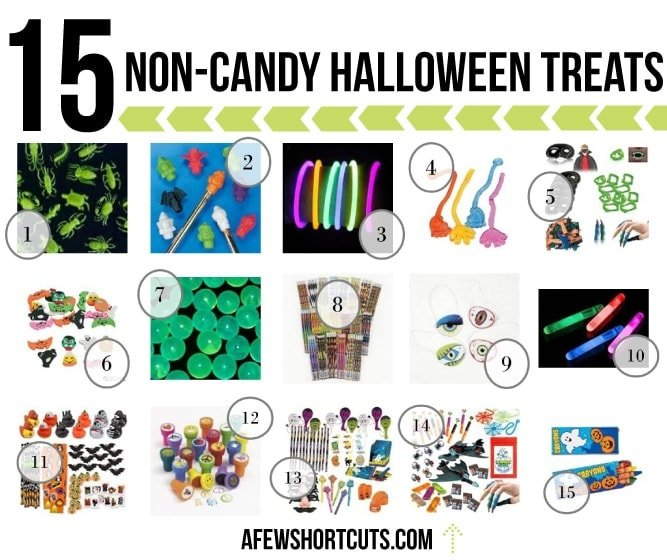 Don't won't to pass out candy this Halloween? 15 Non-Candy Halloween Treat for under $0.25 each.