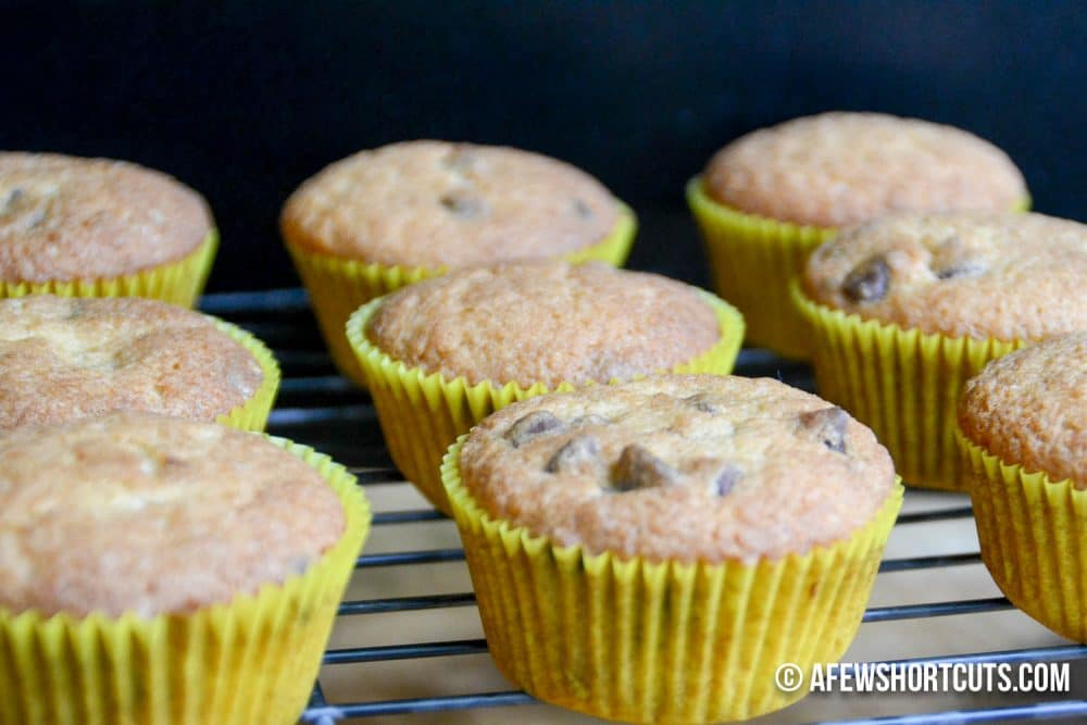 Breakfast time or Snack time this Banana Chocolate Chip Muffins Recipe is amazing! Plus you can make them gluten free and dairy free.