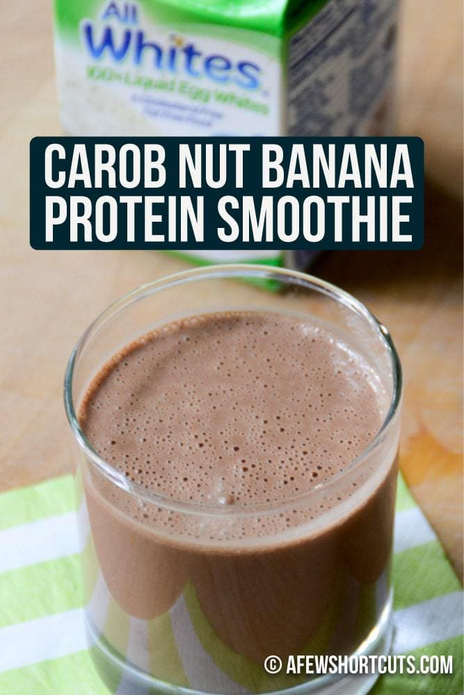 Looking for a protein smoothie without the powder? Check out this Carob Nut Banana Protein Smoothie Recipe!