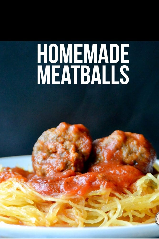One of the best recipes for homemade meatballs! Make extra for the freezer, plus they can be made gluten free & dairy free!