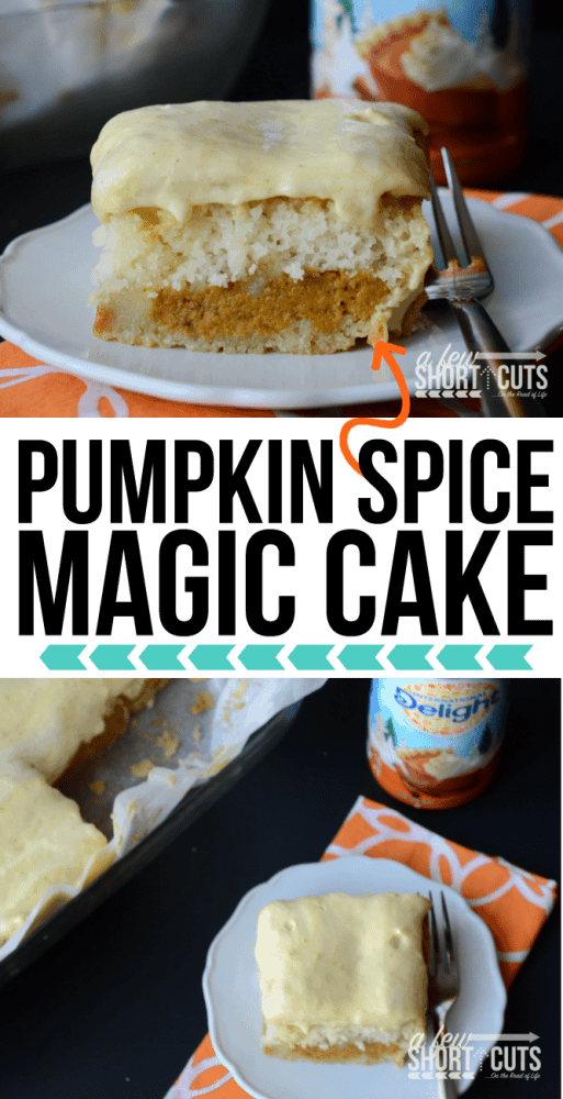 The perfect Fall cake...or pie....or both! You must make this Pumpkin Spice Magic Cake Recipe at least once! #createdelight #idelight @Indelight