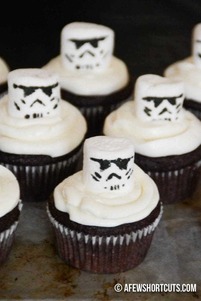 Star Wars Storm Trooper Cupcakes A Few Shortcuts