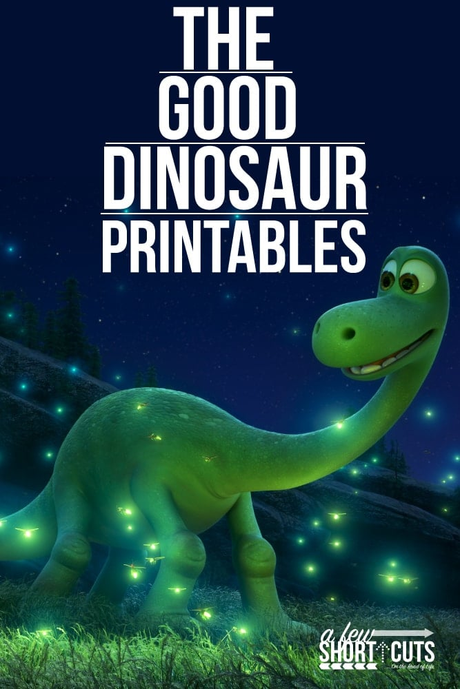 FREE Disney's The Good Dinosaur Printables - A Few Shortcuts