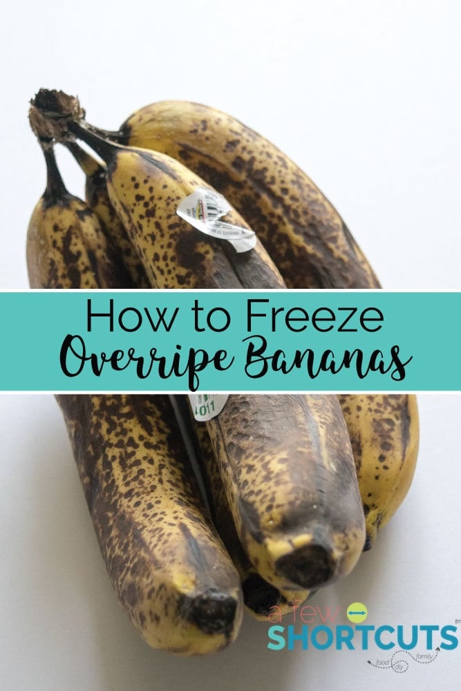 Don't toss those bananas in the trash. Learn how to freeze over ripe bananas so you have them on hand for your favorites recipes!