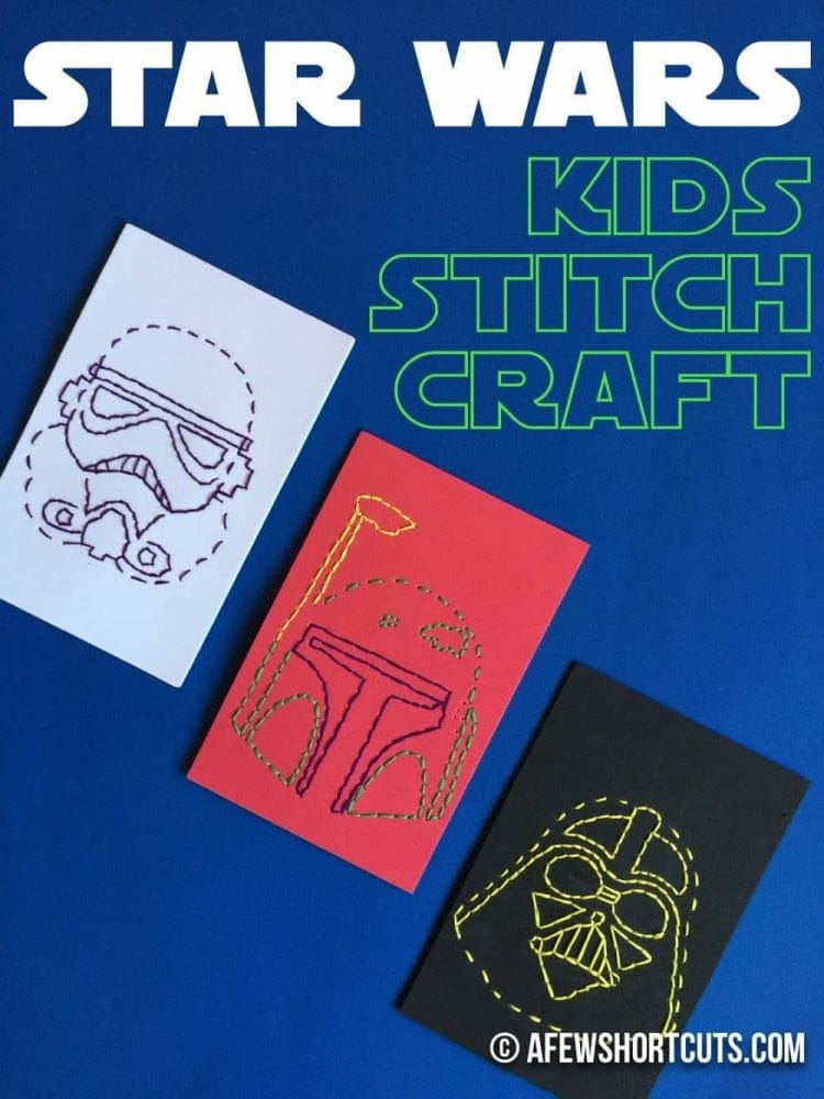 Planning a party or just looking for something fun for the kids on a rainy day? Check out this Star Wars Kids Stitch Craft Project!