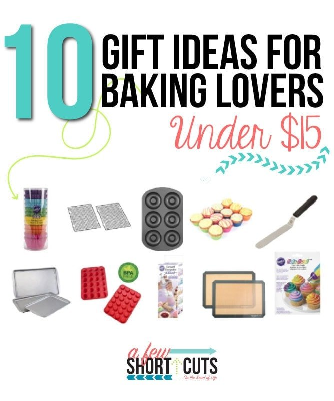 These 10 Gift Ideas for Baking Lovers are sure to be appreciated. Plus they are under $15 so that means you could snag a couple and make a gift basket without breaking the bank!