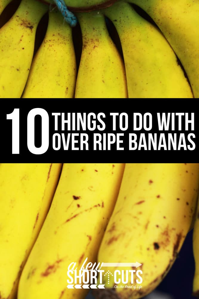 Next time you don't want to waste your bananas, try one of these 10 Things to do with Over Ripe Bananas. They are all amazing. You can't go wrong!