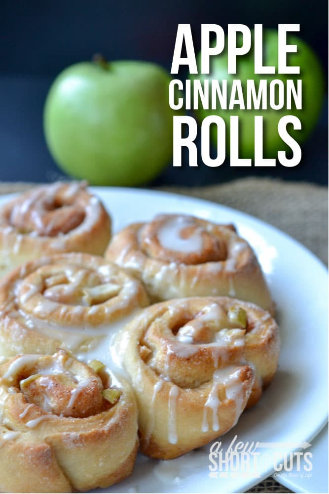 Have apples? Make this Apple Cinnamon Rolls Recipe. The perfect fall breakfast!