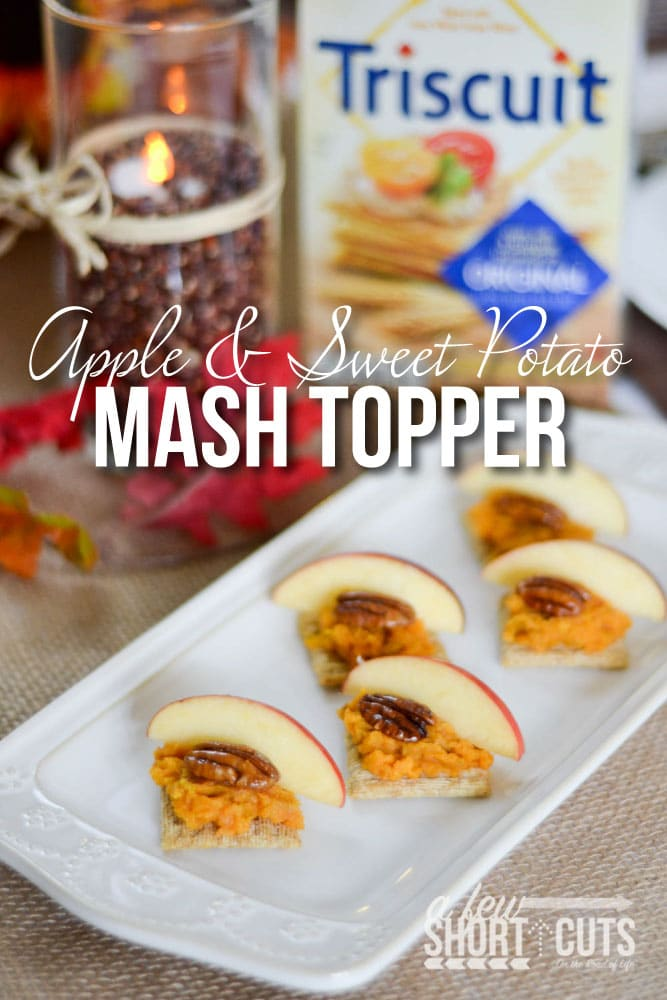 Thanksgiving is full of tradition, family time, and delectable food. This Apple & Sweet Potato Mash Topper Recipe is a perfect appetizer!