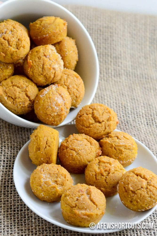 A perfect fall snack or cute little breakfast! Check out this simple and yummy Pumpkin Mini Muffins Recipe. Can be made gluten free & dairy free too!