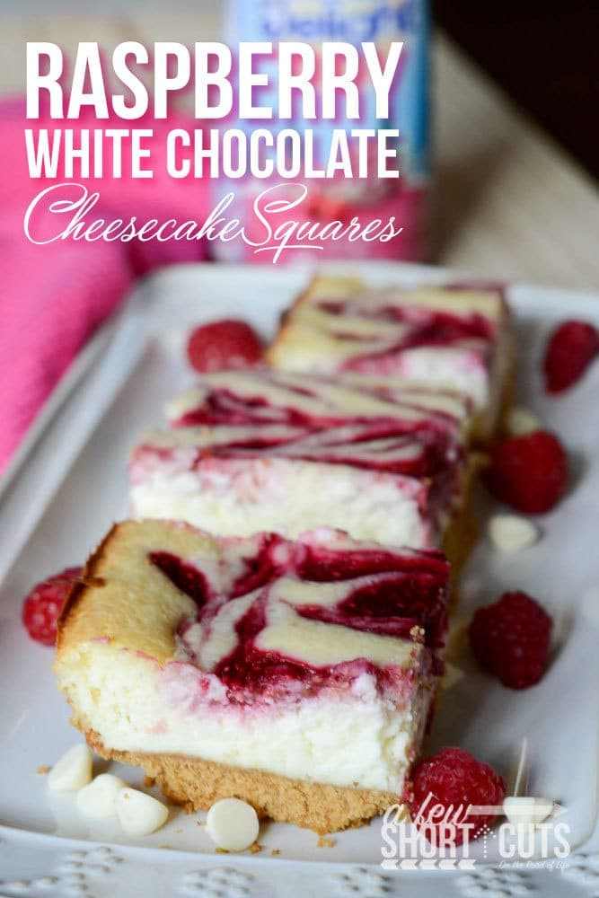 Holidays are full of delights and indulgences. Two words that can perfectly describe these Raspberry White Chocolate Cheesecake Bars Recipe. A delicious holiday dessert. #ShareYourDelight #IDelight @indelight