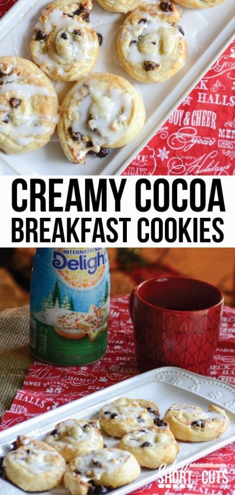 Santa's favorite breakfast! Well...it should be. Check out this simple Creamy Cocoa Breakfast Cookies #Recipe #ShareYourDelight #IDelight @indelight