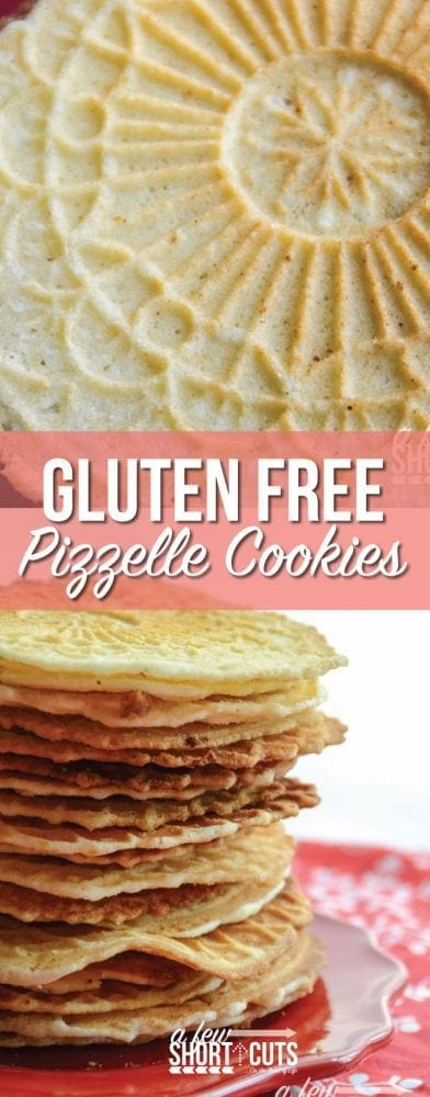 A family favorite! This Gluten Free Pizzelle Cookie Recipe is a must have during the holidays!