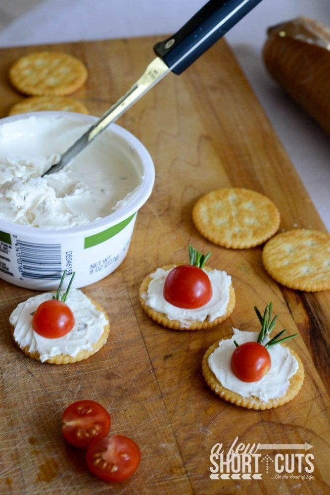 Simple tomato rosemary canap s a few shortcuts for Canape spread