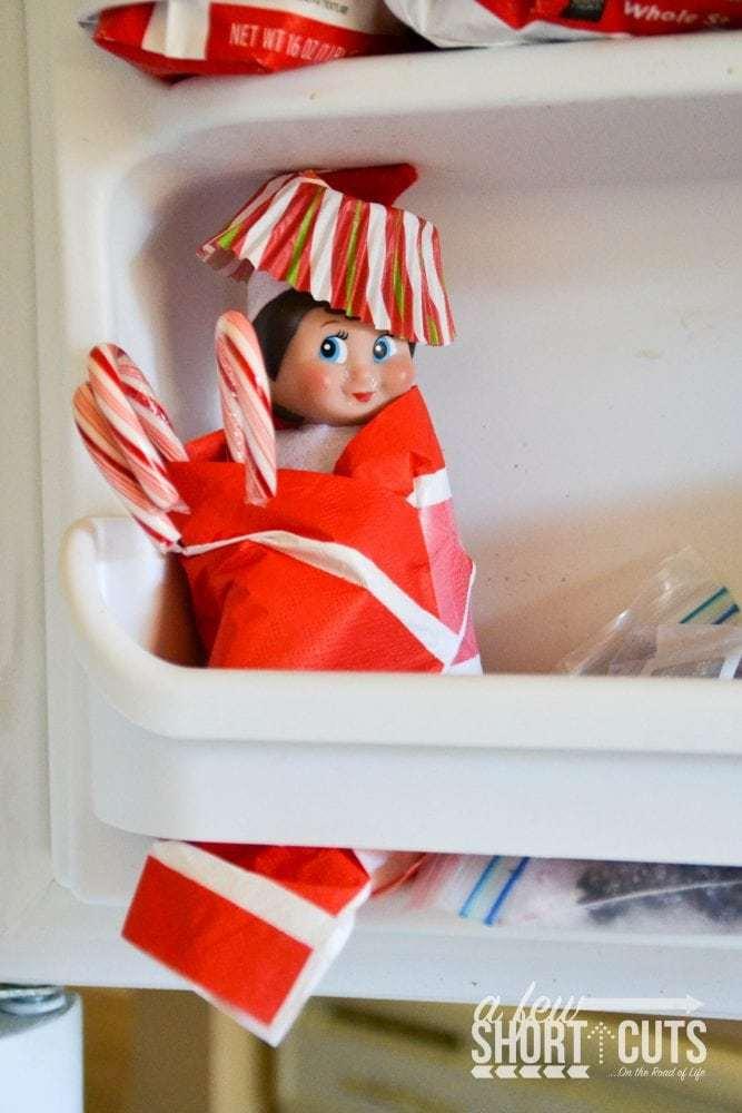 Elf On The Shelf Ideas North Pole To Freezer A Few