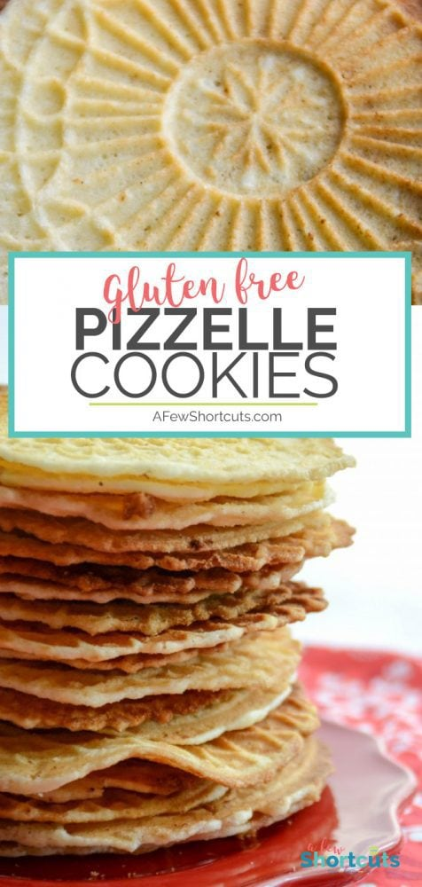 A family favorite! This Gluten Free Pizzelle Cookies Recipe is a must have during the holidays. A perfect Christmas Cookie!
