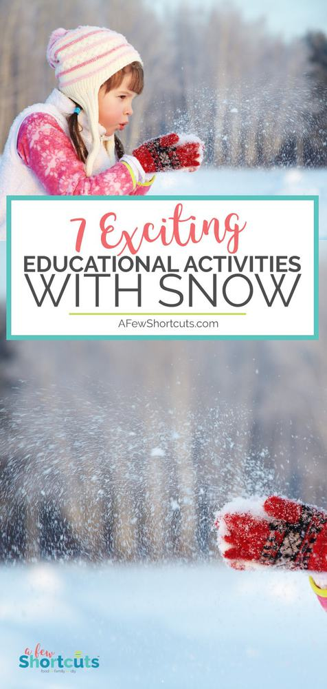 Fresh Snow? 7 Educational Activities with Snow! A fun way to incorporate snow into your homeschool or classroom lesson plans! #homeschool #winter #educational