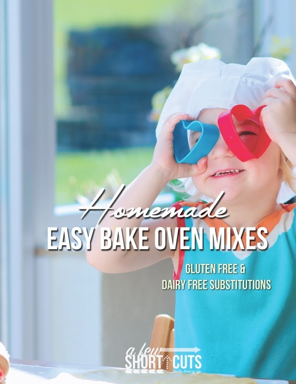 Check out these simple Homemade Easy Bake Oven Mix Recipes that can be made for pennies! Gluten free & dairy free substitutions too!