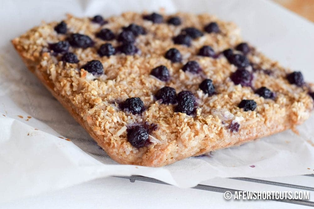 Blueberry Coconut Baked Oatmeal - A Few Shortcuts