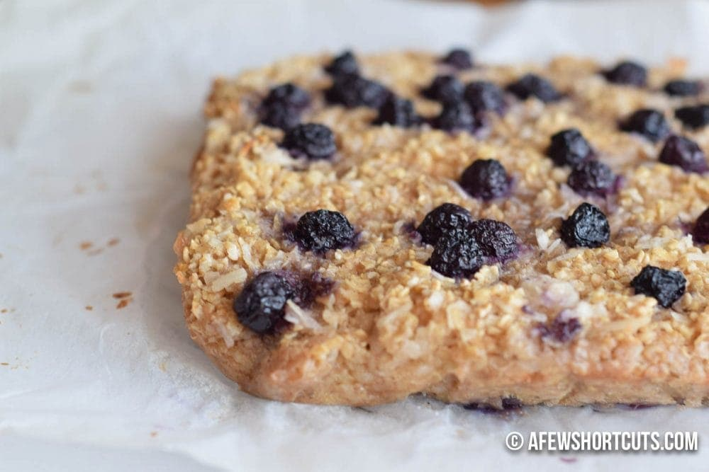 Blueberry Coconut Baked oatmeal-1-7 - A Few Shortcuts