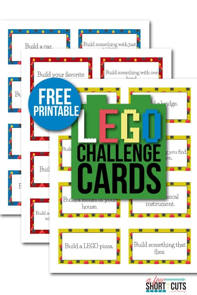 Free Printable Lego Challenge Cards A Few Shortcuts