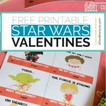 Print your kids Valentines Cards this year. Download these free Printable Star Wars Valentines Cards and have the most adorable cards in class! Also includes a cute non-candy treat idea. | @AFewShortcuts #printable #valentines #valentine #kids #StarWars