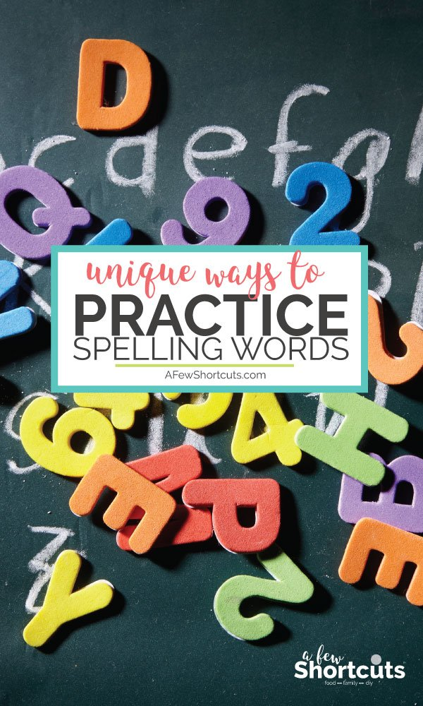 Toss out that paper and pencil and practice spelling words with these unique and fun activities. Your kids will be begging for more and love learning again! #homeschool #homework #education #learning