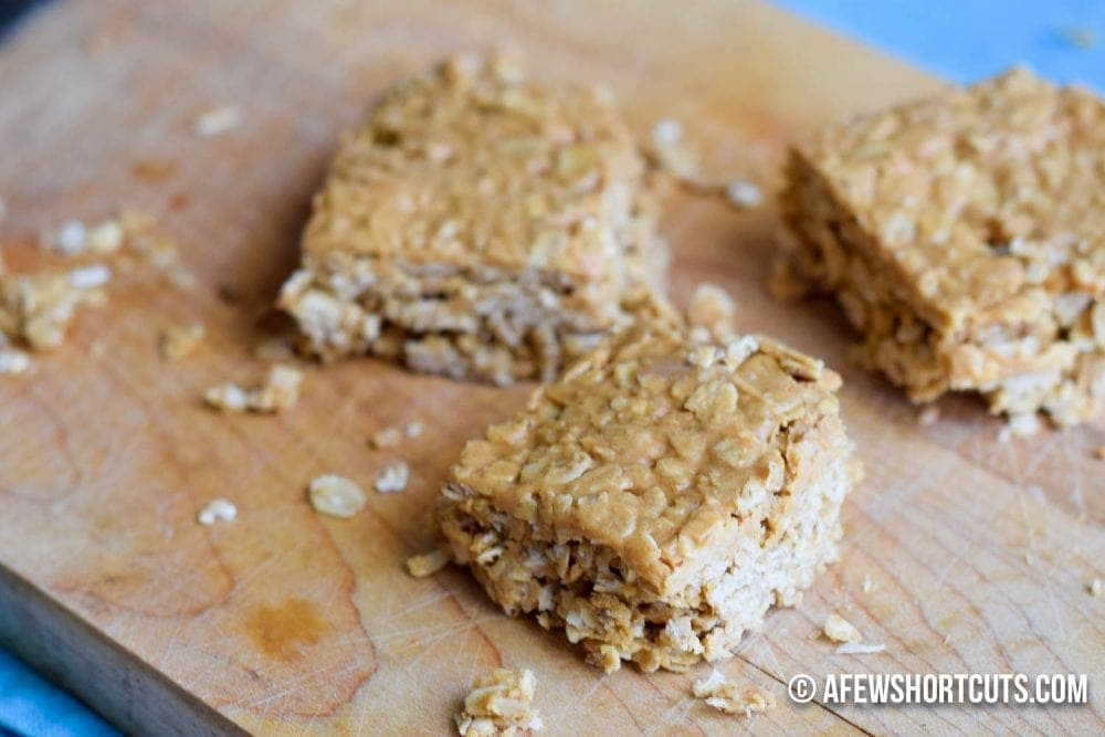3 ingredients plus some love and you can make this yummy 3 Ingredient Peanut Butter Bars Recipe in a matter of minutes!
