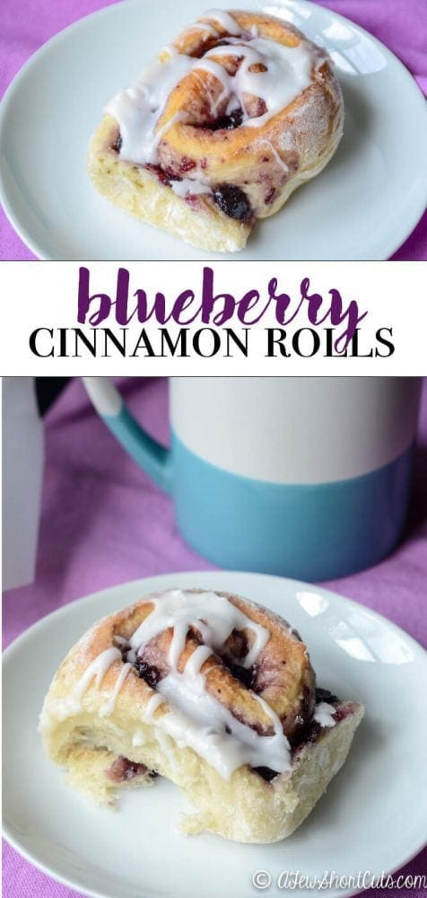 A sweet twist on a classic breakfast treat. You are going to love this fruity addition to this yummy Blueberry Cinnamon Rolls Recipe!