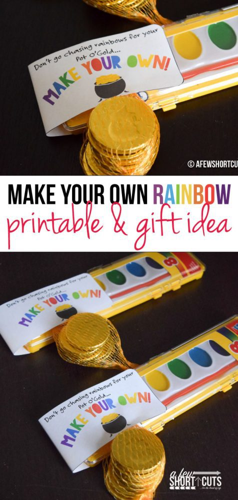 Having a St Patrick's Day or Rainbow Party? You have to check out this Make Your Own Rainbow Printable St Patricks Day Party Favors! So cute!