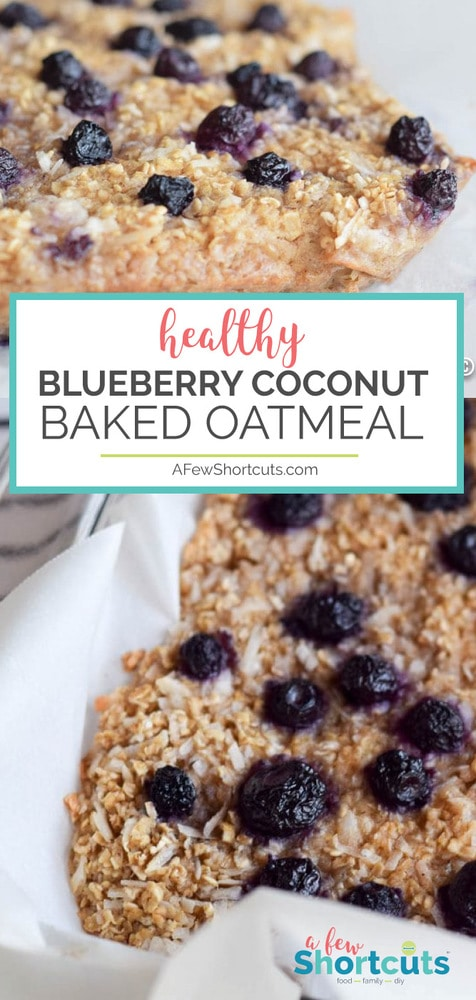 A Delicious healthy breakfast recipe! You have to try this Blueberry Coconut Baked Oatmeal recipe! You can make it gluten free, dairy free, even vegan!