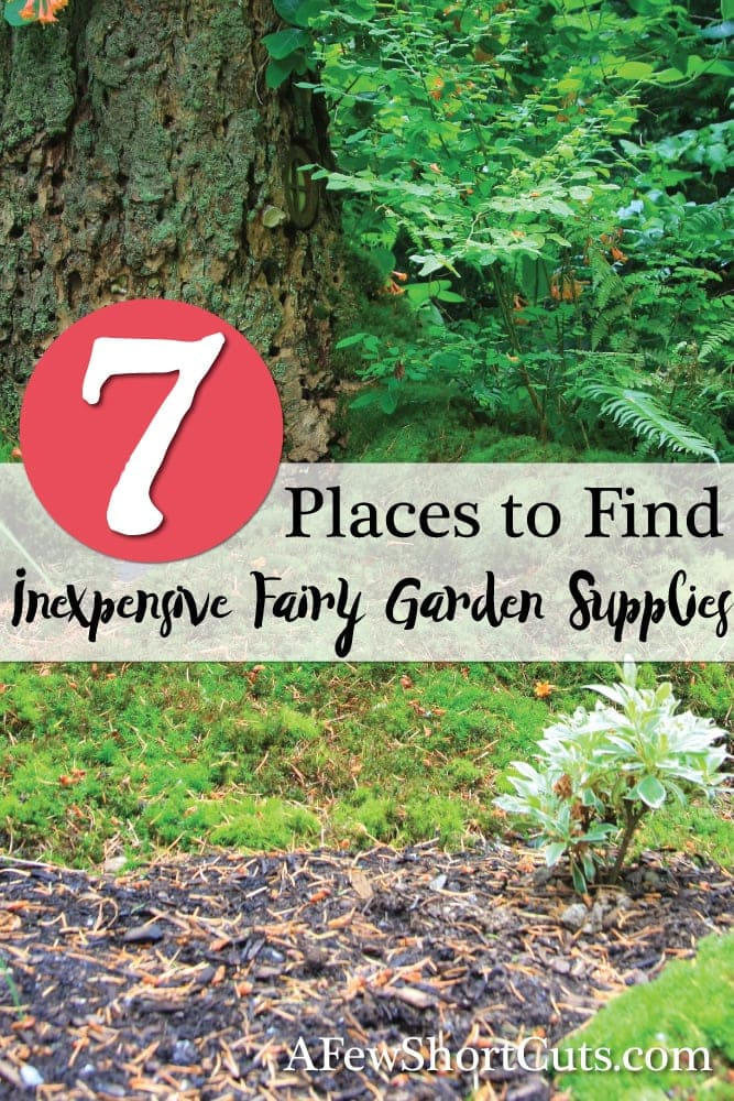 Build a magical fairy garden any fairy would love to visit all while staying on a budget! Check out these 7 Places to Find Inexpensive Fairy Garden Supplies.