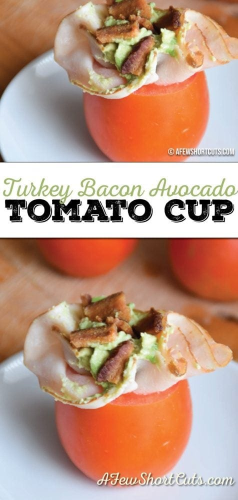 Looking for a quick and healthy lunch option?! You have to check out this simple Turkey Bacon Avocado Tomato Cup Recipe
