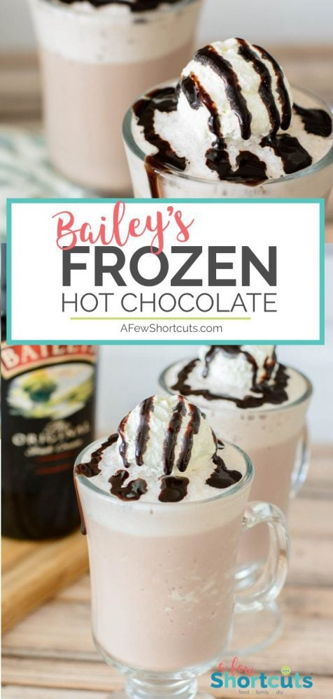 Simple, Chocolate, and Bailey's Irish Cream = one amazing adult dessert! Check out this Bailey's Frozen Hot Chocolate Recipe!