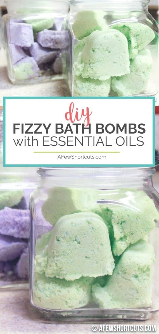 Relax in style. Your bathroom turns into a spa with these Easy to make DIY Fizzy Bath Bombs with Essential Oils. Great for yourself, or gift giving. #diy #essentialoils