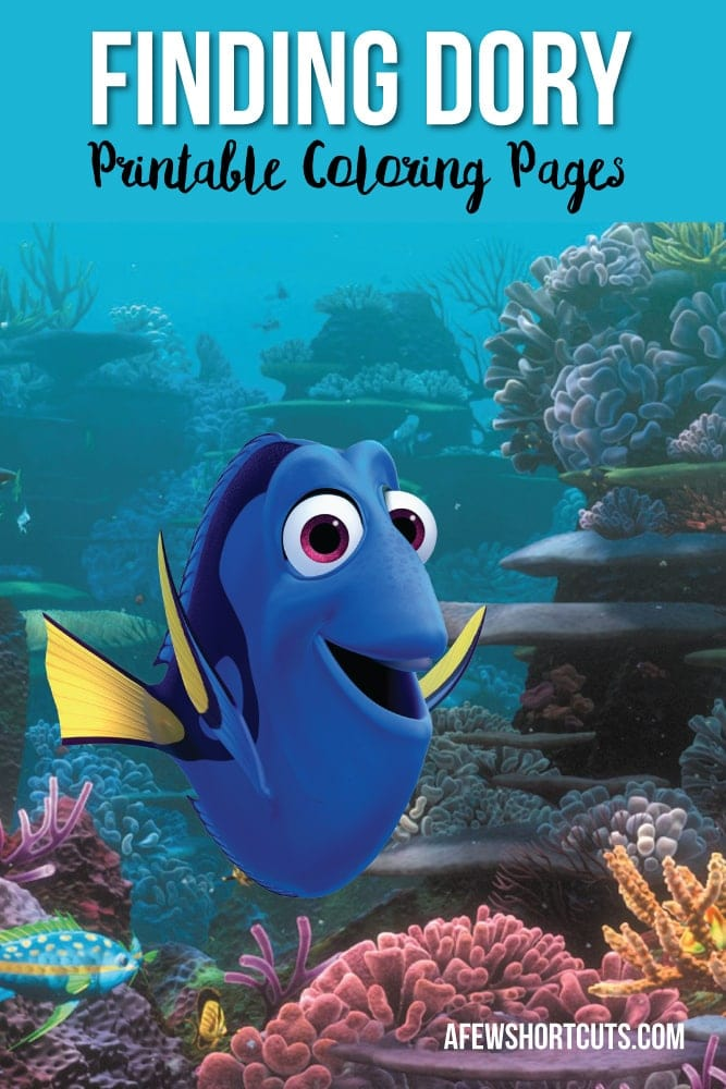 Can't wait for Finding Dory? Go now to download and print these Free Disney Pixar Finding Dory Printable Coloring Pages!