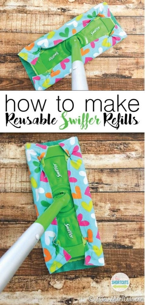 Don't waste your money on those expensive Swiffer refills. Learn how to make your own Reusable Swiffer Refills! Super simple sewing project!