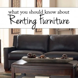 What You Should Know About Renting Furniture