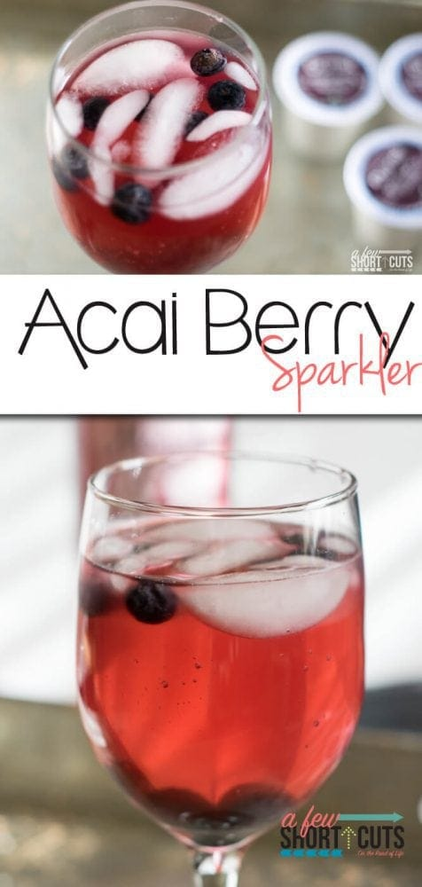 Refreshing Summer cocktail made with your Keurig. It doesn't get much easier or better than this Acai Berry Sparkler Recipe