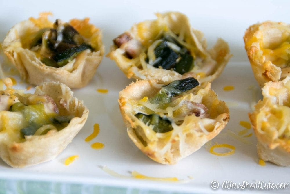 Perfect for Cinco De Mayo or any day! This Poblano Chicken Taco Cups Recipe will spice up any taco tuesday!