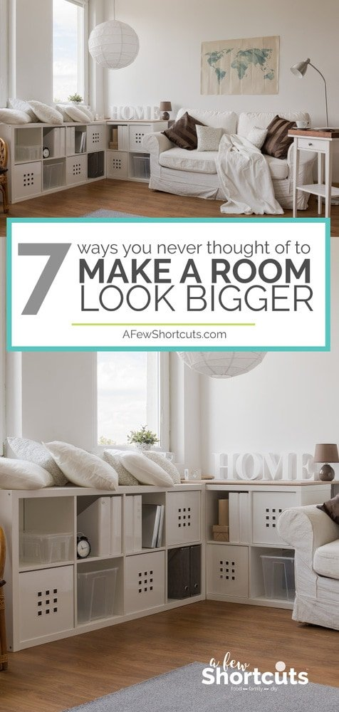 Do you have a small space? You need to look at these 7 Ways you Never thought of to make a room look bigger.