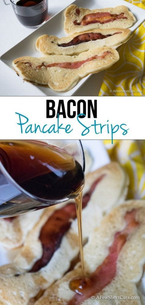 Pancakes & Bacon in 1 with this simple and yummy Bacon Pancake Strips ...