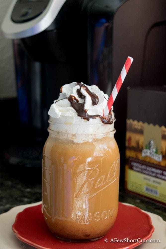 Just another reason my Keurig is one of my favorite kitchen appliances. This could be one of the ultimates summer indulgences! I love this Chocolate Raspberry Truffle Iced Latte.