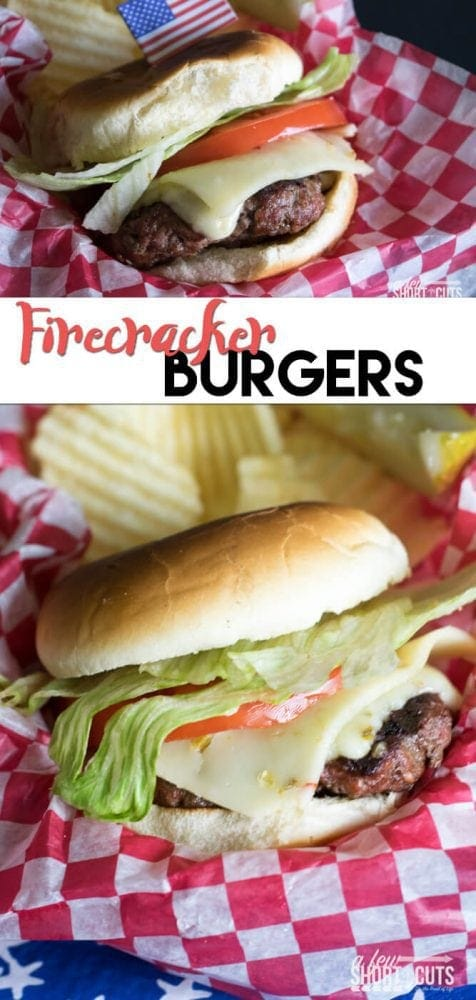 Fire up the grill and wow your friends and family with this Firecracker Burgers Recipe!