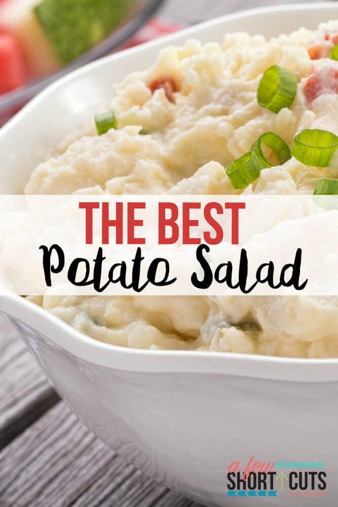 Summer time calls for one thing! The Best Potato Salad Recipe ever! This is perfect for backyard BBQ's and picnics! Everyone will want the recipe!