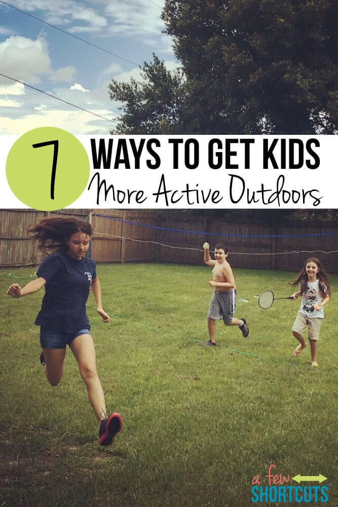 Are you ready for your children to enjoy more healthy and active lifestyles? Give these 7 ways to get kids more active outdoors a chance and see what a difference they can make.