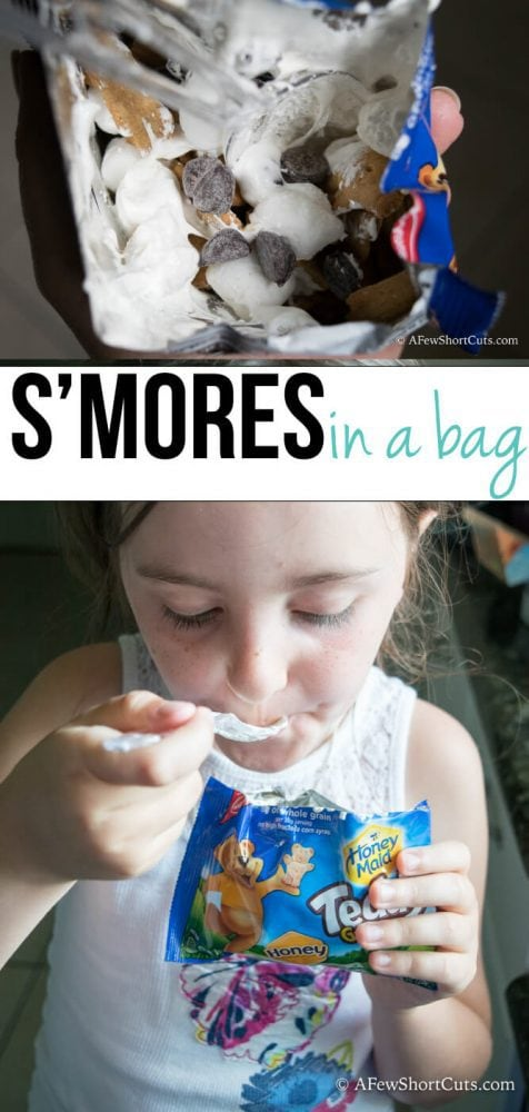 These are perfect for camping, Summer memory making, parties and just because! S'mores in a bag needs to become a thing in everyones house!