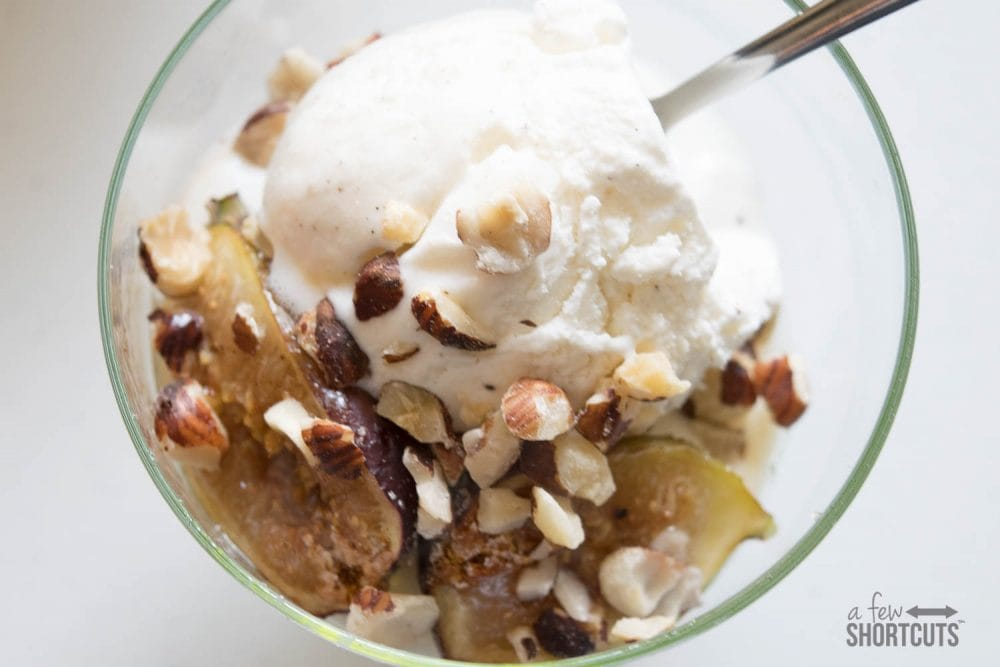 Simple Ingredients, complex flavors, and super easy to make in your own kitchen! You must try this Spice Roasted Figs with Hazelnuts and Vanilla Ice Cream Recipe!