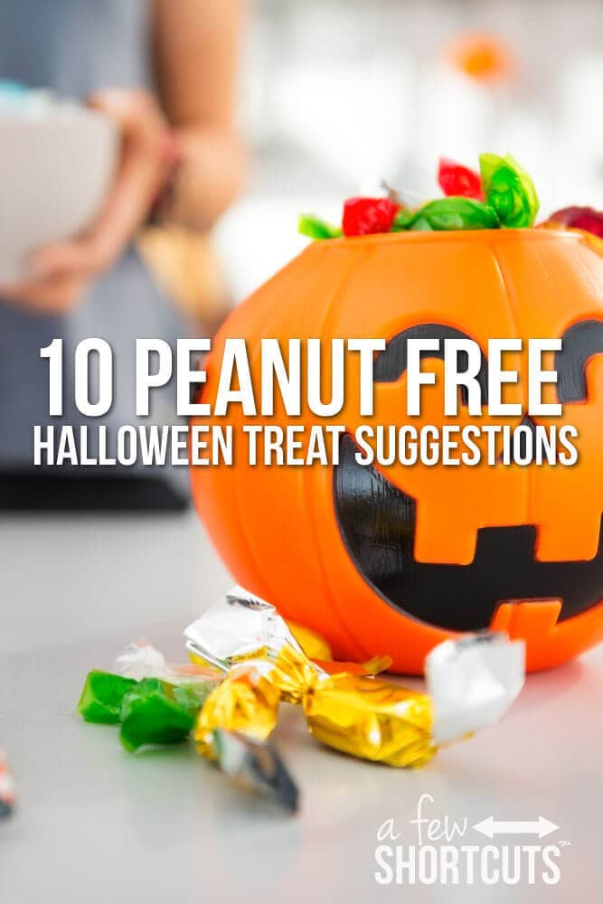 Do you need some Peanut Free Halloween Treat Suggestions? Check out this list of great ideas before you go shopping for your Halloween Treats