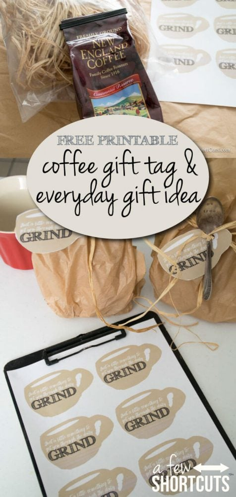 Pay it forward with this FREE Printable Coffee Gift Tag and Everyday Gift Idea #YourAreExtraordinary